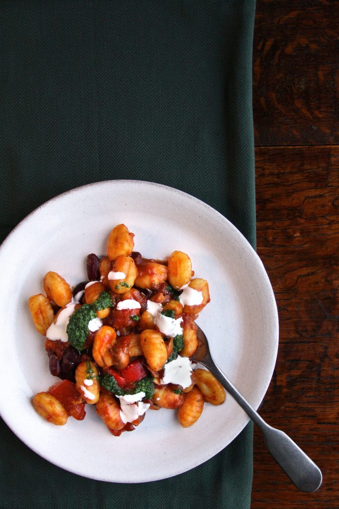 Delicious looking plate of Pepperpot Gnocchi