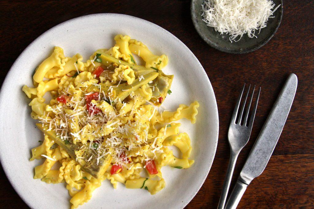 Plate full of tasty pasta
