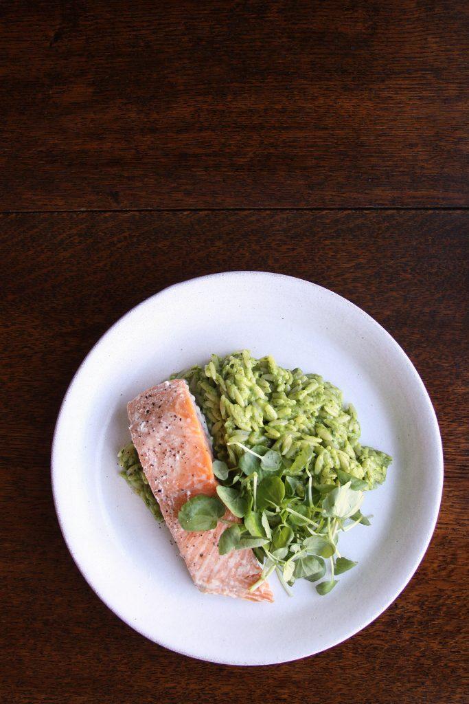trout and risotto recipe