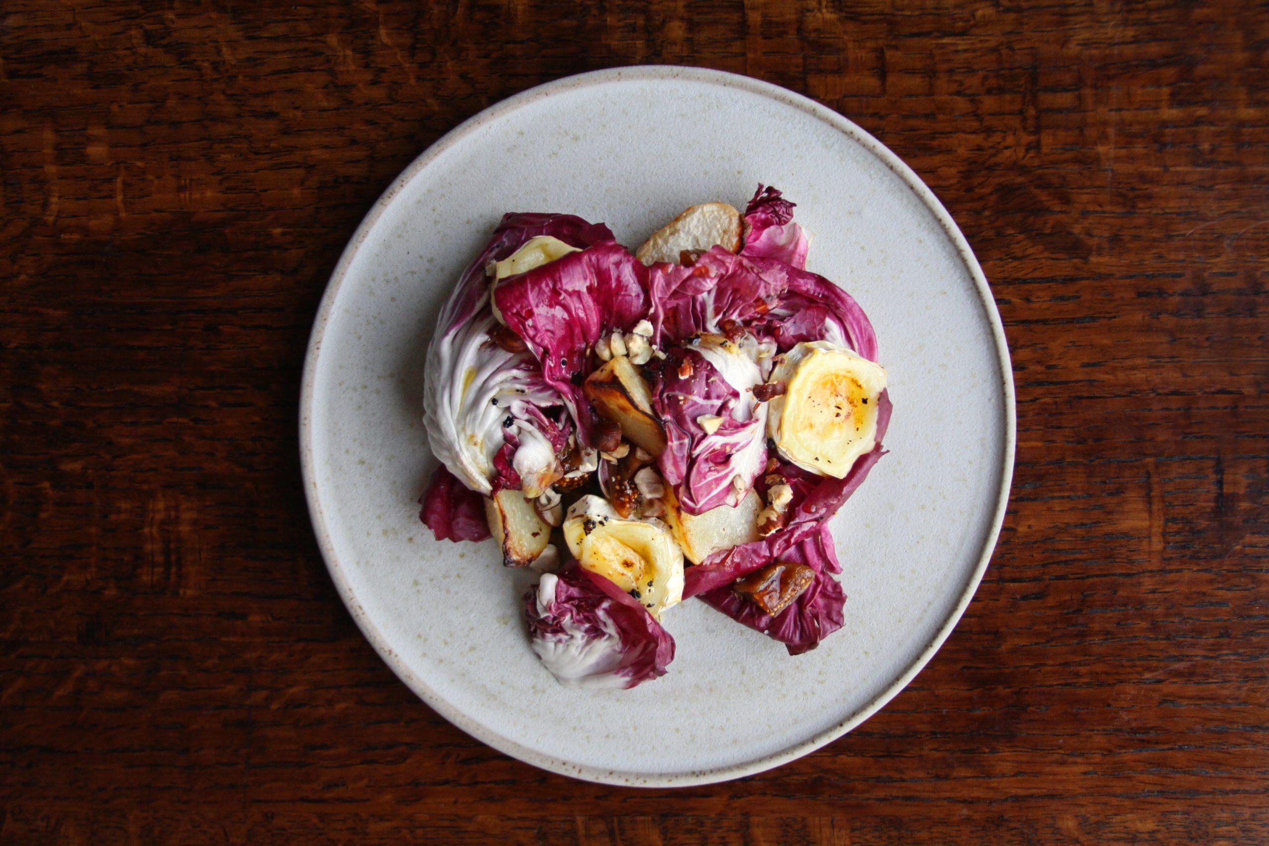 plate of delicious radicchio salad